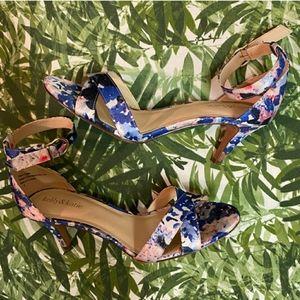 Kelly & Katie Floral Ankle Strap Heels